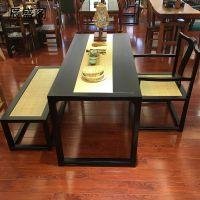 新中式茶桌书桌可任意定制辰盛阁家具