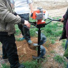 硬土质专用植树机 大功率拖拉机挖坑机 种树打坑机