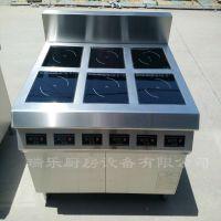 商用电磁炉6头煲仔炉 平面单头3.5KW 煲汤煮粥煲仔饭 电磁灶
