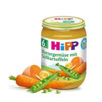 德国喜宝婴儿胡萝卜红薯豌豆泥 190克 原装进口
