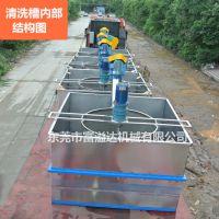 桂林pp PE粉碎料洗料机 不锈钢旧塑料清洗槽生产线 沉浮料洗料机
