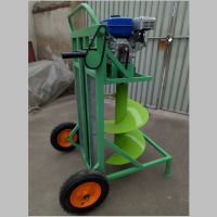 小型手提汽油钻眼机 新型农用打坑机价格 启航大马力汽油挖坑机