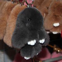 河北南宫博旭批发迷你版14厘米獭兔毛装死兔饰品皮草小兔子挂件