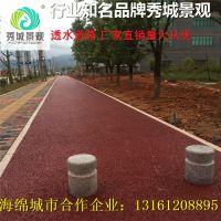 安徽美丽乡村建设彩色透水混凝土 透水路面施工人工带料