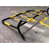 河南长葛厂家现货供应可移动黄河红白道路护栏、不锈钢铁马临时护栏