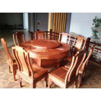 刺猬紫檀家具 古典中式宁静致远1.38圆桌 千百年红木