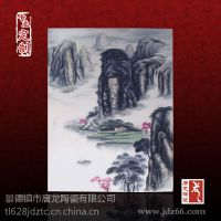 主题酒店客房装饰瓷板画批发,中式青花瓷板画