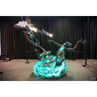 陕西雕塑树脂玻璃钢景观英雄联盟人物雕塑制作