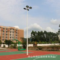 汕头中小学篮球场6米灯杆批发 社区球场灯光照明效果 柏克金卤灯安装