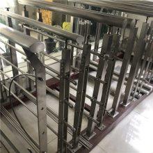 新云 304玻璃栏杆立柱商场工程不锈钢楼梯扶手立柱钢化玻璃护栏