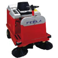 意大利POLI进口电动清扫车PERLA E70带吸尘器的驾驶式扫地机
