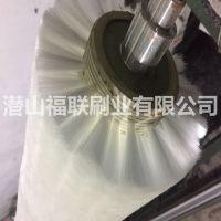 福联刷业定做LCD液晶显示屏清洗机毛刷辊 LCD玻璃基板磨洗毛刷辊