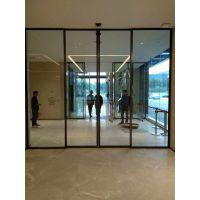不锈钢框感应门安装【顺德丰本】松下玻璃感应门承接工程