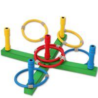 锐业专供 圈圈乐 儿童投掷抛圈套圈圈玩具 亲子互动游戏 户内外公园套圈益智竞技 幼儿园教材 丁腈橡胶