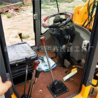 河南铲车装电线杆打坑机厂家 快速施工 洪鑫铲车挖坑钻孔机