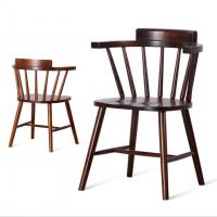 倍斯特特价热销实木餐椅北欧简约休闲椅 主题餐厅扶手椅子 酒店咖啡厅温莎椅厂家定制