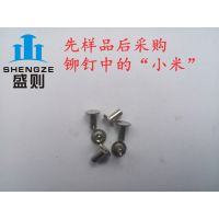 宿迁盛则金属供应GB873不锈钢扁圆头铆钉 电子行业专用紧固件