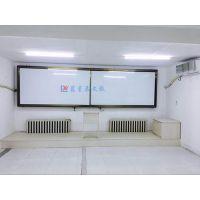 深圳磁性挂式绿板X罗湖双开门推拉绿板C盐田单面茶色框绿板