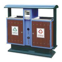 永康科蒙垃圾桶生产厂家供应钢木垃圾桶 户外分类垃圾桶