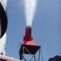 山东风清内蒙采石场皮带机扬尘60米雾炮机降尘保湿降温喷雾器