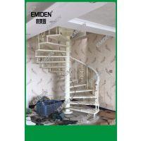 深圳市意美登供应实木踏板铝艺扶手室内旋转楼梯