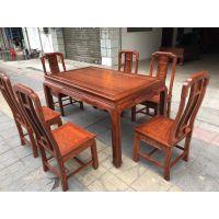 餐厅红木中式餐桌系列 名琢世家刺猬紫檀红木1.5米饭桌生产销售