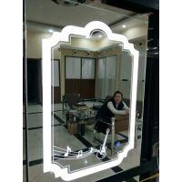 浴室镜壁挂异型装饰镜卫浴镜水滴状灯镜贴墙洗手间定制