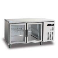 冰立方二门冷藏工作台AWS15G 风冷二门冷藏展示柜 吧台饮料展示柜