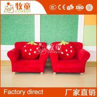 儿童卡通懒人沙发幼儿园儿童家具红色布艺小沙发定制批发