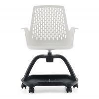供应深圳众晟家具PTC-020B可360度旋转多功能塑料培训椅
