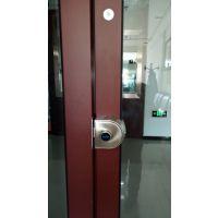 玻璃狗办公室玻璃门指纹锁智能刷卡密码锁平移门单双开免开孔