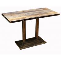倍斯特定制美式乡村复古防火板餐桌创意工业风火锅快餐奶茶餐桌