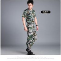 湖南新款夏季学生军训迷彩服套装 户外拓展丛林海洋迷彩套装厂家直销