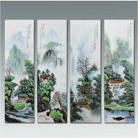 定制元旦春节山水画风水大型壁画 中式客厅装饰画背景墙画礼品