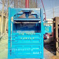 电动双缸薄铁皮边角料压块机 启航立式液压奶瓶子打包机 小吨位塑料薄膜压包机价格