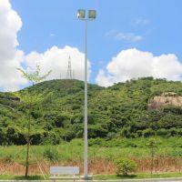 篮球场灯杆配置光源 室外球场照明灯 LED灯具 6米篮球场灯杆