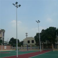 灯杆配套定制、贵州室外篮球场LED灯光建设、灯杆款式高度定做