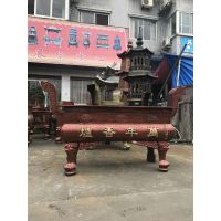 长方形平口生铁香炉 广东湛江购买大型寺庙香炉