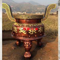 供应圆形平口生铁铸造香炉龙王庙土地庙祖堂旅游风景区铜铁香炉