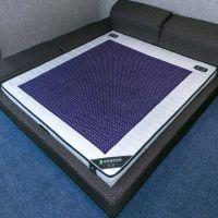 加厚针织天然乳胶天然水晶床垫温控加热双人弹簧床垫