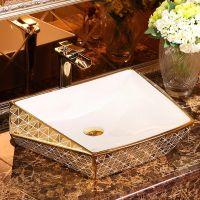 酒店卫生间新款彩色陶瓷不规则个性洗手盆洗脸盆
