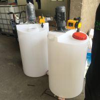 厂家供应加药搅拌罐 1000L化工可配电机塑料搅拌罐