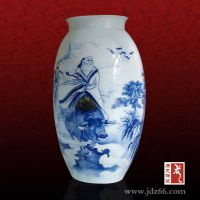 景德镇影青釉陶瓷小花瓶摆件,装饰小花瓶