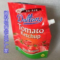番茄酱吸嘴袋 上封开口便于罐装 250G调味料铝箔自立包装袋