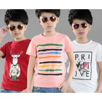 2018珠海厂家库存尾货新款韩版男女童装T恤低价批发 时尚潮流纯棉T恤清货处理
