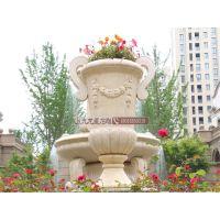 厂家直销石雕花盆 花岗岩欧式花钵 庭院小区公园雕塑摆件