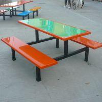 8人分体食堂餐桌椅定做 彩色食堂餐桌椅 餐桌椅款式可按要求订做
