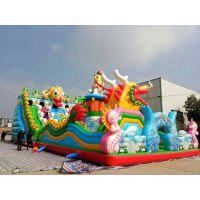 2017年新款儿童充气蹦蹦床 游乐场项目充气城堡 亲子活动充气滑梯淘气堡