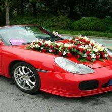 明秀路装饰婚礼花车布置结婚庆典鲜花15296564995明秀路花店上门装扮结婚新娘主车