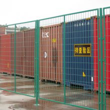 焊接式隔离铁栅栏 穿插式方孔隔离网直销 广州公园交错式栏杆价格